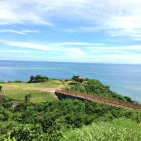 沖縄の高台からの風景