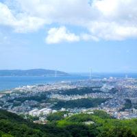 山頂からの垂水・明石海峡大橋 1