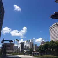 空 青 緑 建物