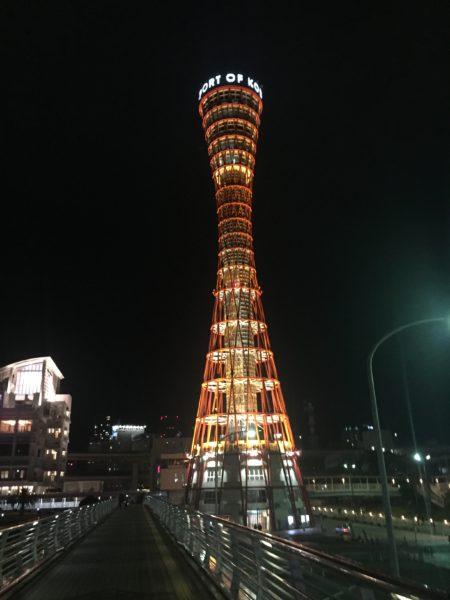 夜のポートタワー 4