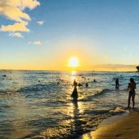 ワイキキビーチの夕日 2