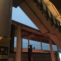 曇天の高尾駅