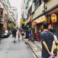 台北の路地道