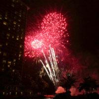 ヒルトンホテルの花火 4