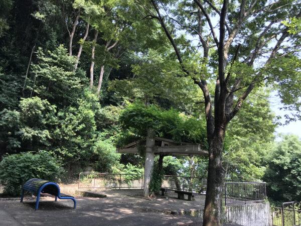 高台にある公園