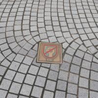 神戸市の禁煙マークのタイル