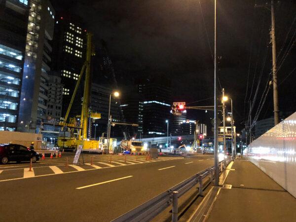交通規制の工事現場 01