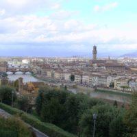 フィレンツェの山から見た街並み