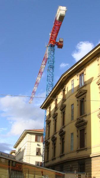 フィレンツェの工事現場
