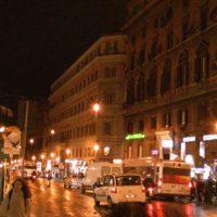 イタリアローマ 夜の街並み