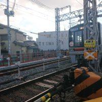 柴島駅に向かう大阪メトロ