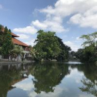 タマン・アユン寺院前の景色
