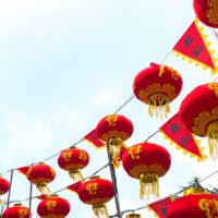 雪の降る北野の春節祭中国ランタン 2