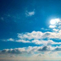 雲と空と太陽 1